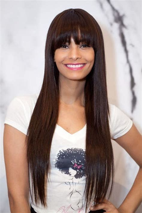 Hairstyles For Long Hair Straight Bangs | long straight hairstyles beautiful hairstyles