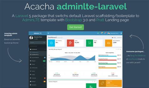laravel scaffolding tutorial adminlte template laravel 5 package learning laravel