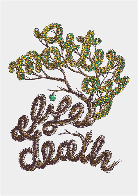 font design nature draw a woodcut inspired typographic illustration in photoshop