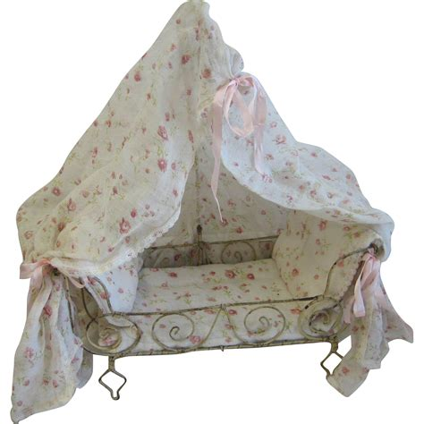 antique canopy bed antique white metal canopy bed with pink floral