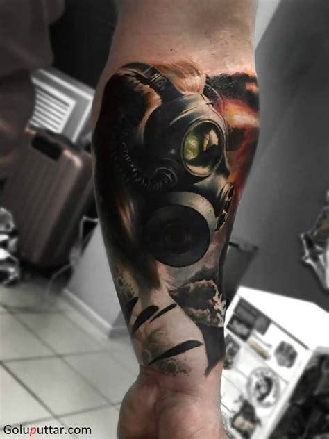 tattoo fixers gas mask cover up attractive 3d tattoo of gas mask for men photos and ideas