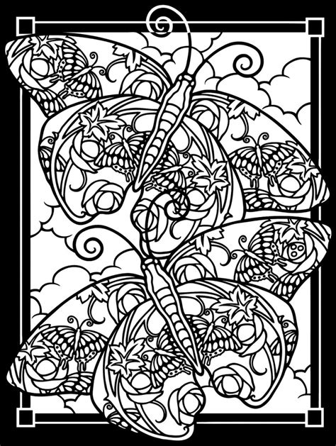 difficult butterfly coloring pages free coloring page coloring adult difficult two