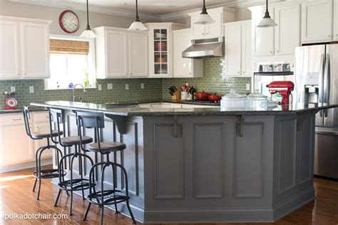 painted kitchen island ideas tips for painting kitchen cabinets the polka dot chair