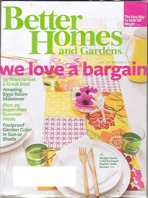 backissues com better homes and gardens july 2010 product details