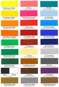 Alfa Romeo Colour Chart Color Charts Boat Dealers Supply Company