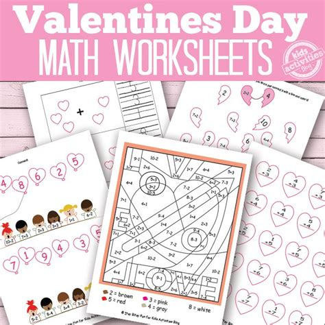 day math worksheets valentines day math worksheets free printables