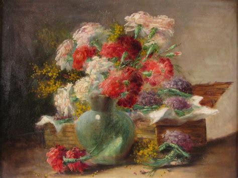 fiori in francese natura morta di fiori francese ad olio su tela