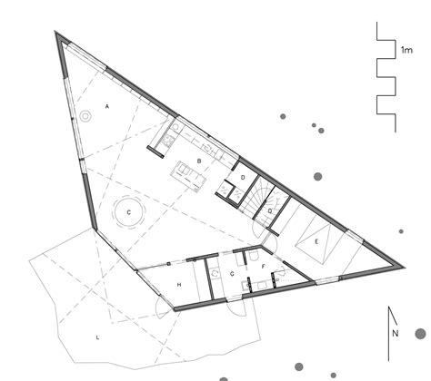 triangular floor plan triangle house jva archdaily