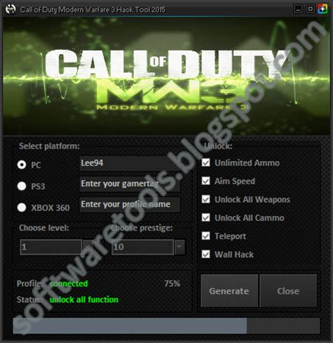 tutorial hack mw3 ps3 call of duty modern warfare 3 hack tool 2015 pc ps3