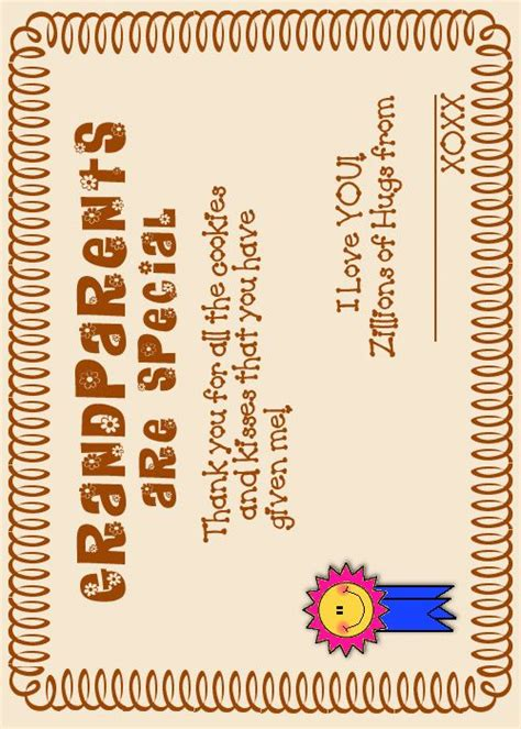 printable bookmarks for grandparents day grandparents day certificates grandparent s day at