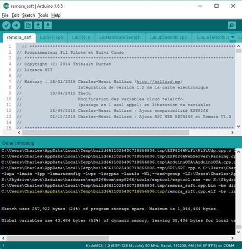 sketchbook location arduino r 233 aliser une mise 224 jour sans fil ota avec un esp8266