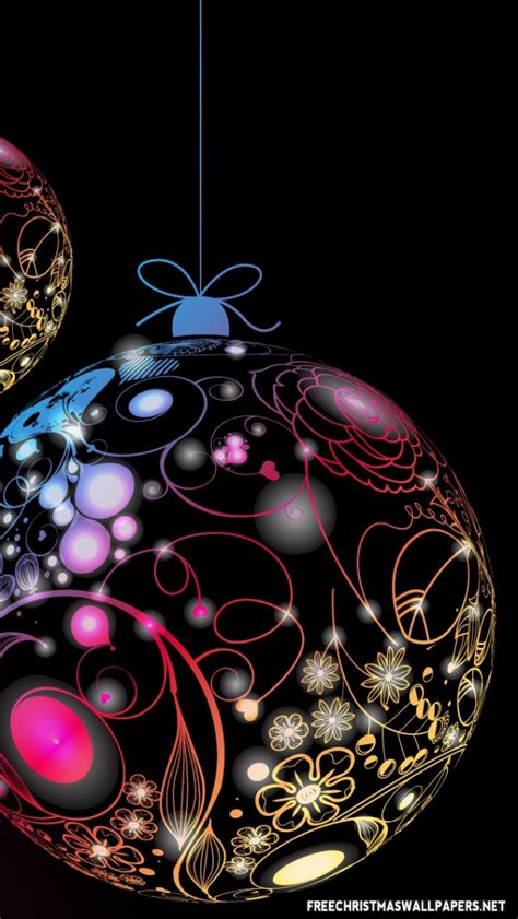 christmas ipod wallpapers merry ornaments iphone 5 5s ipod wallpaper freechristmaswallpapers net