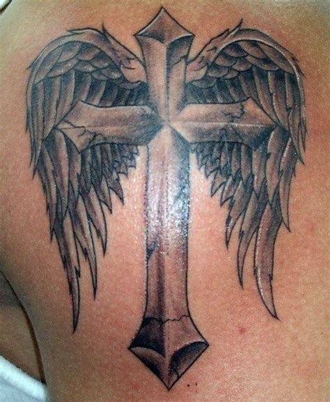 Tattoo Angel And Cross | 30 angel tattoos designs pretty designs