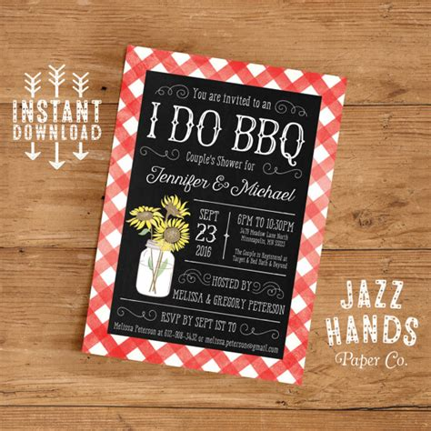 bbq themed wedding shower invitations printable i do bbq couples shower invitation template