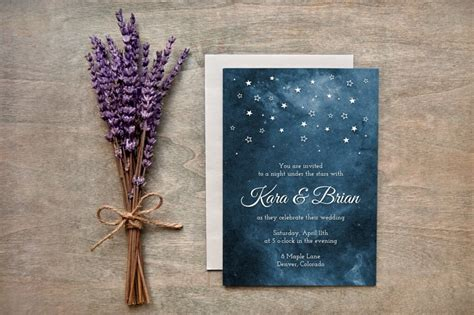 starry place card free template 90 gorgeous wedding invitation templates design shack