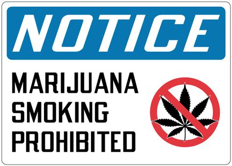 no smoking sign weed marijuana sign notice marijuana smoking prohibited