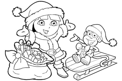 nick jr winter coloring pages dora christmas coloring pages 12 printable coloring sheets