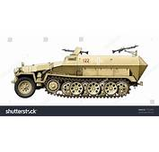 Ww2 German Halftrack Vehicle Stock Illustration 27742285