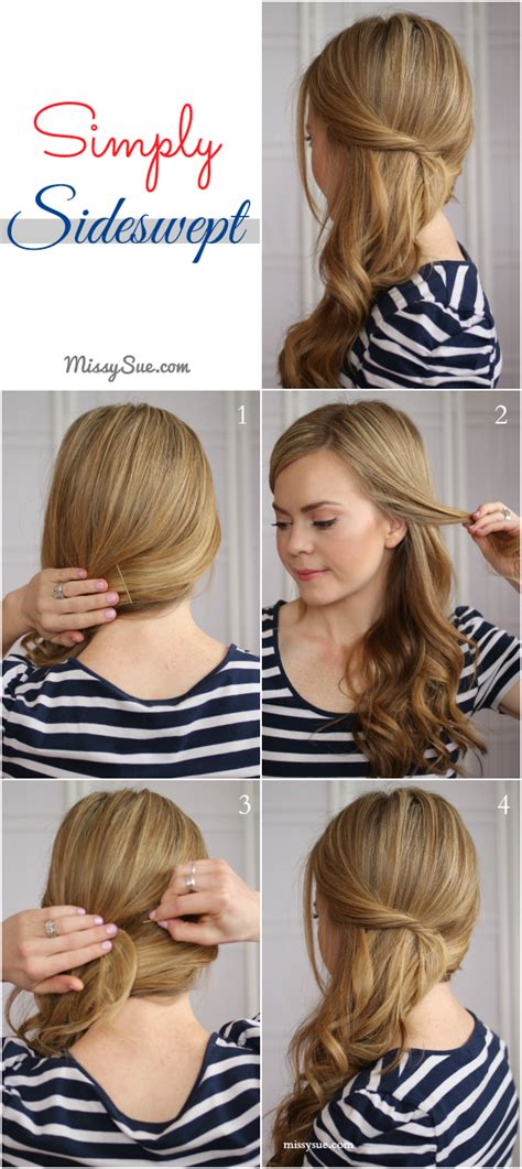 hairstyles to the side tutorial hairstyle easy side swept waves tutorial steps here http