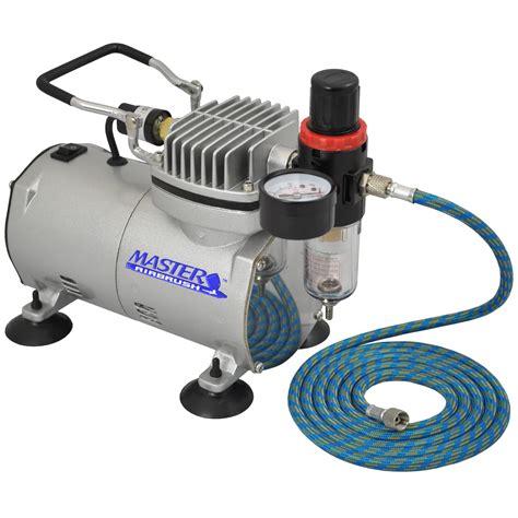 pro airbrush compressor w air regulator water trap filter cake ebay