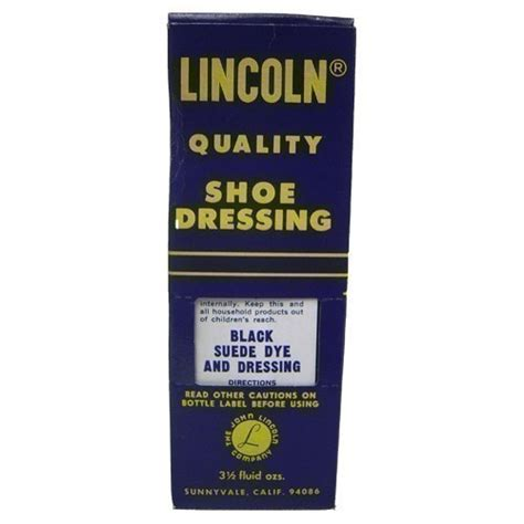 lincoln shoe dressing black suede dye accessories