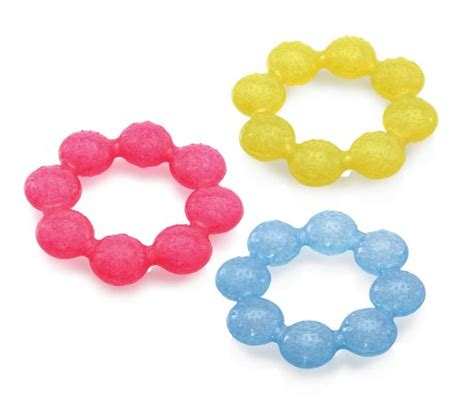 Bright Starts Soother Ring Teether Blue Orange nuby icybite soother ring teether colors may vary