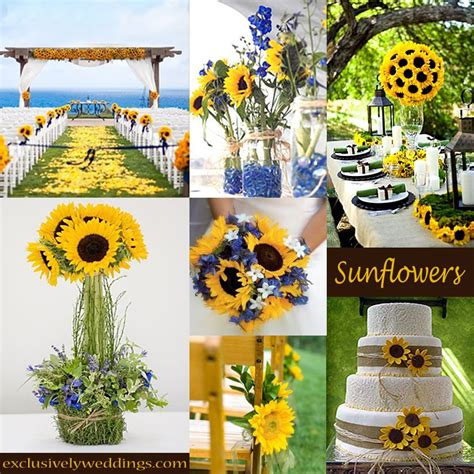 sunflower wedding decorations on