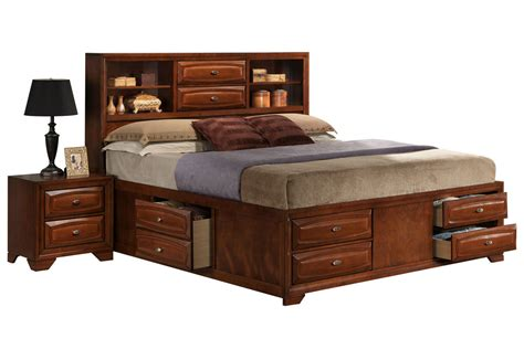 queen bed with storage roswell queen storage bed at gardner white