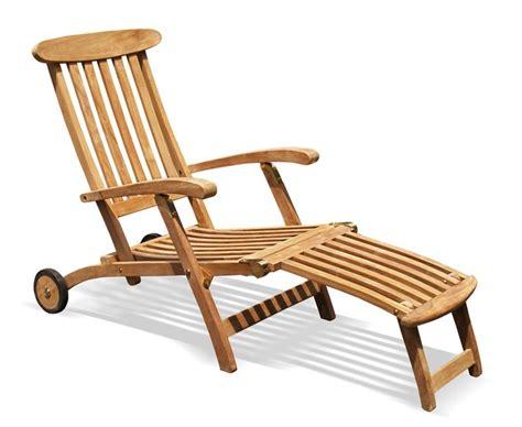Teak Steamer Chair by Halo Teak Steamer Chair With Free Cushion Wheels Brass
