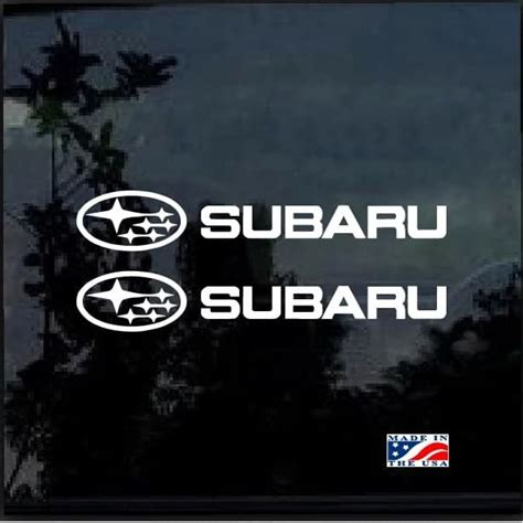 subaru window decals subaru decal sticker wrx sti impreza forester set of 2