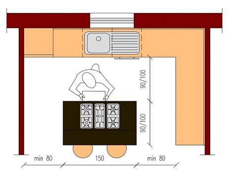 dimensione cucina cucina con isola o penisola dimensioni architettura a