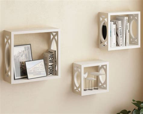 White Square Wall Shelves Top 20 White Floating Shelves For Home Interiors