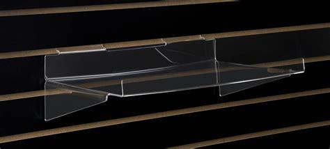 slatwall display shelves slatwall acrylic shelving with lip angled shelf with