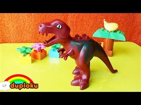 Mainan Anak Lego Duplo 10686 Family House learn colors with dinosaurus t rex wooden hammer