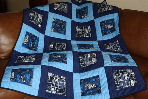 quilt pattern using star wars fabric a star wars quilt i made beautiful quilts pinterest