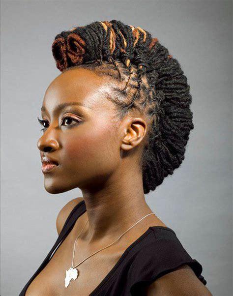 faux mohawk for black women jazzy mohawk hairstyles for black women hairstyles 2017