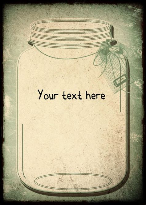 Mason Jar Invitations Templates Blank Jar Invitation Template