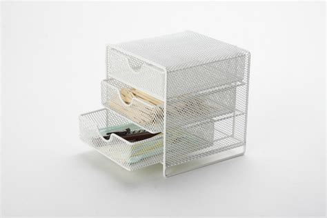 wholesale metal mesh small stationery desk drawer