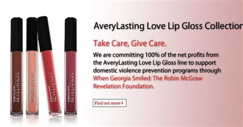 Charitable Idea Lip Gloss Against Domestic Violence by The Quot When Smiles Foundation Quot Was Started By Robin