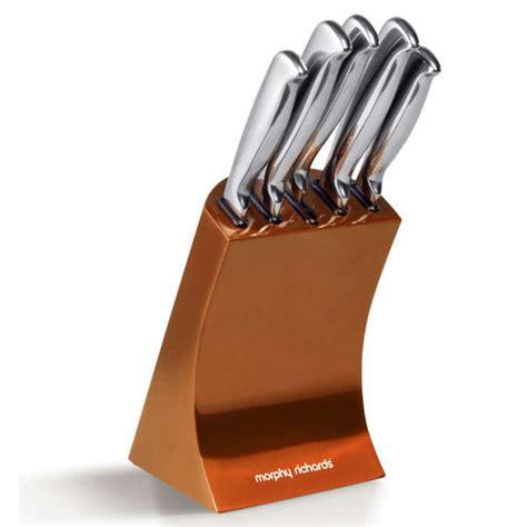 Morphy Richards Accents 5 Piece Knife Block Set   Copper