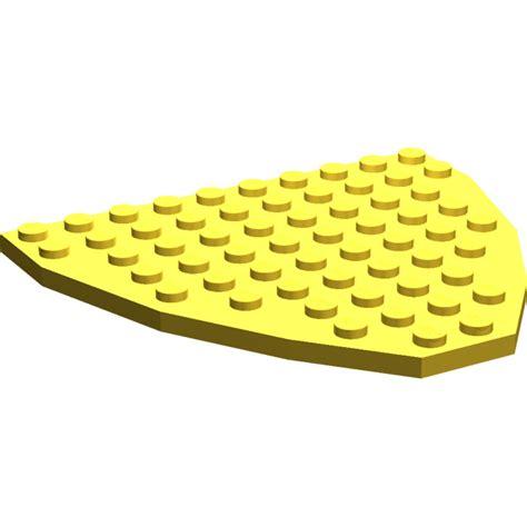 lego yellow boat lego boat bow plate 10 x 9 2621 brick owl lego
