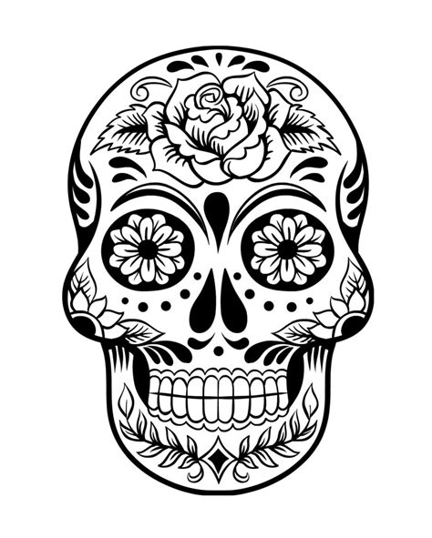 catrina day of the dead coloring page coloring pages