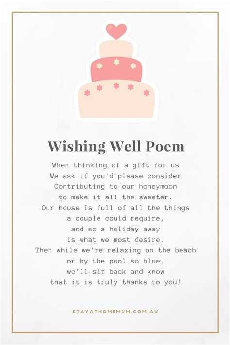 Wedding Wishes Poem by Non Cheesy Wedding Wishing Well Poems Stay At Home