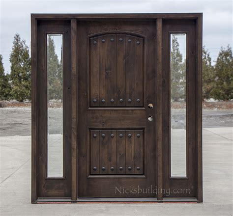 Rustic Wood Exterior Doors Cl 1778 Wood Front Entry Door