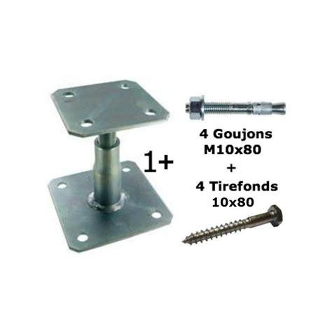 pied reglable 1818 vente de pied de poteau r 233 glable en kit avec