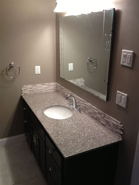 diy weekend bathroom makeover prefab granite countertop