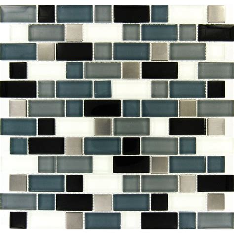 Ms International Crystal Cove 12 In X 12 In Glass Blend Home Depot Mosaic Backsplash