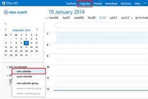 Where Is Calendar In Office 365 How To Create A Shared Calendar In Outlook Office 365