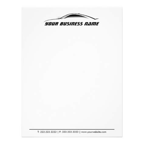 automotive business letterhead template cool car outline auto repair business letterhead zazzle ca