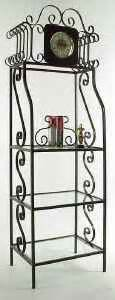 store display fixture racks glass shelves
